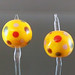 Earring pair : Yellow dot