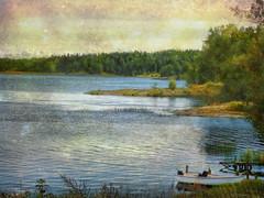 Summer is over  :( (Bessula) Tags: bridge lake texture nature forest boat masterpieces motat bessula tatot saariysqualitypictures bestcapturesaoi magicunicornverybest magicunicornmasterpiece musictomyeyeslevel1
