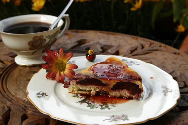 ricetta con foto torta all'orzo e susine prugne