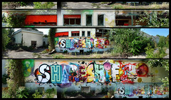 'ShapeShift' by HEMS, OPERA, REBUS, RICO (Thias (-)) Tags: terrain streetart paris wall painting graffiti mural opera spray rico urbanart painter rebus graff aerosol 93 bombing spraycanart hems shapeshift ambiance urbex vierge pgc thias friche 2hs qck photograff frenchgraff photograffcollectif
