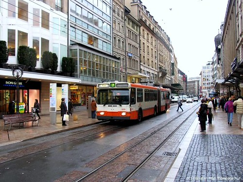 light rail in downtown Geneva (courtesy of Rail for the Valley)