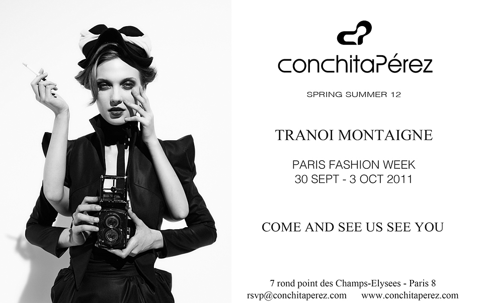 Conchita Perez at Paris Fashion Week 2011 Invitation