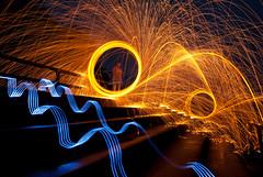 _DSC0345 (G.V Photographie) Tags: lightpainting france night del circle fire stand nikon long bretagne led nuit feu tribune 1224 cercle léon finistère longue whool d3000 stpoldeléon moonpose lunefull lainedeferpleine exposurewire