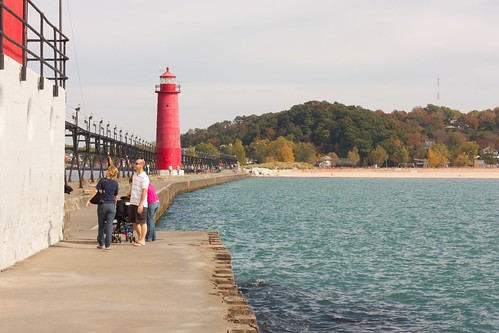 The pier at Grand Haven