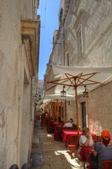 "The ""Streets"" of Dubrovnik (Jill Clardy) Tags: street sea cafe croatia sidewalk 100views marble scenes dubrovnik adriatic lanes 4615 4614 4613"