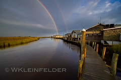 Oyster Creek Rainbow (kleinfew) Tags: new canon newjersey rainbow inn leeds double 7d jersey 1022mm 100400mm oystercreek kleinfelder