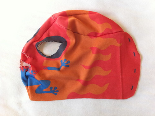 Wrestling mask construction example part 4