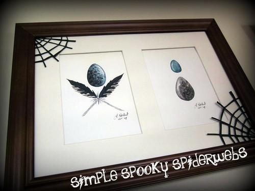 simple spooky spiderwebs