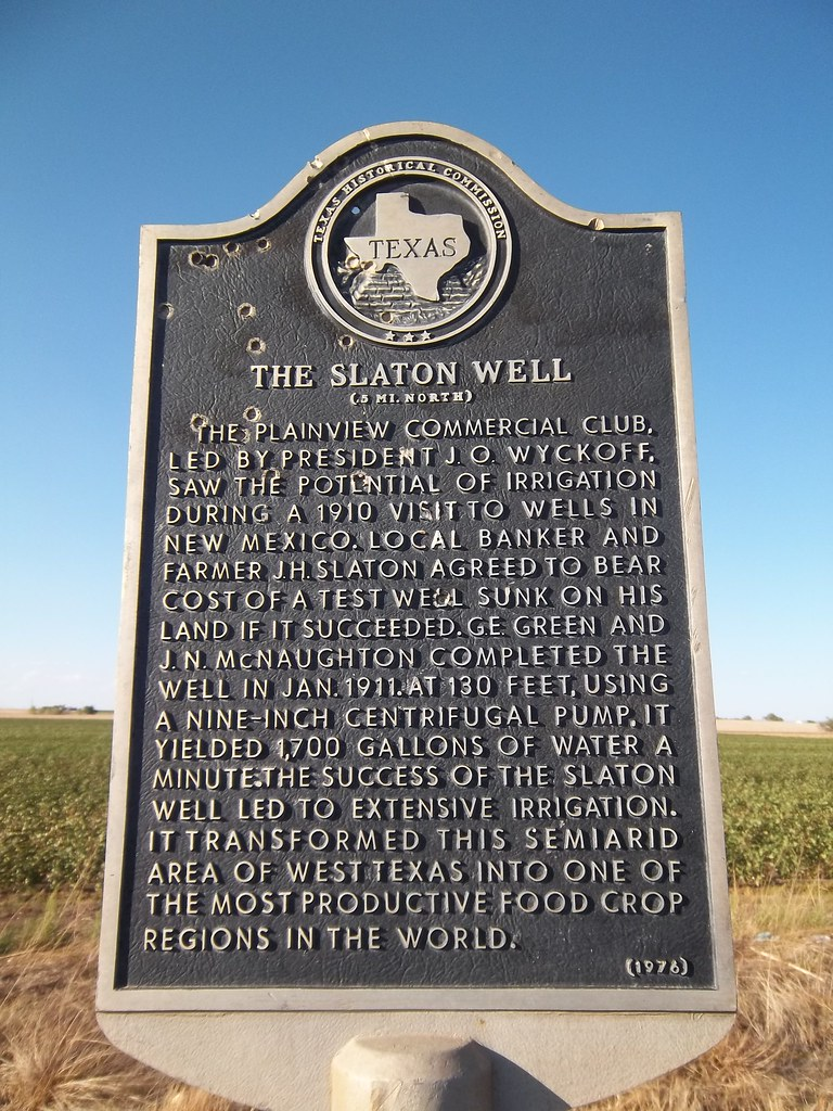 The Slaton Well, Plainview, Texas Historical Marker