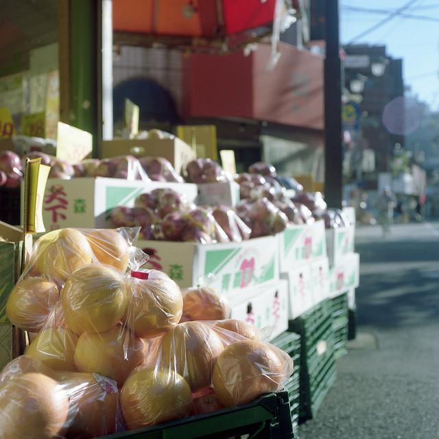 店先の果物