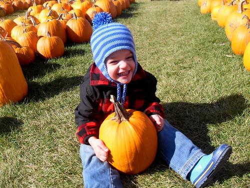 Benjamin's pumpkin!