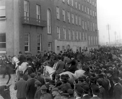 October 22, 1900 (National Library of Ireland on The Commons) Tags: ireland horses october crowd hunting chestnuts 1900 waterford hunt greys riders 1900s onlookers glassnegative bowlers sidesaddle telegraphpoles thequays tophats adelphihotel nationallibraryofireland huntmeet ahpoole poolecollection arthurhenripoole