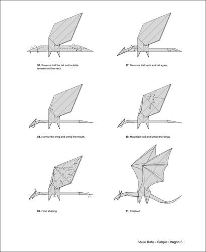 origami dragon diagram