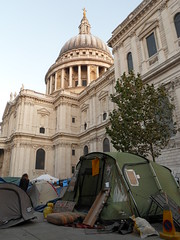 Occupy Tents outside St. Paul's