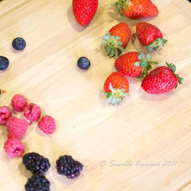 Tarte Frangipane com Bagas vermelhas / Frangipane Tart with red berries