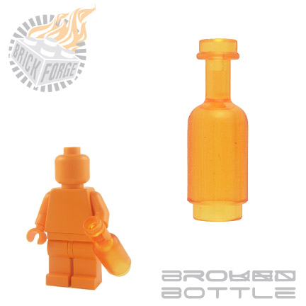 Round Bottle - Trans Orange