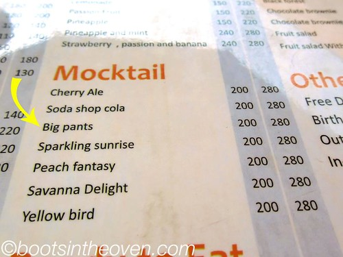 OK.  WHAT is a Big Pants Mocktail?
