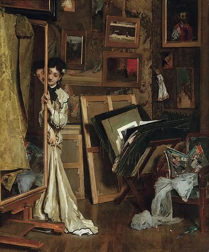 LA PSYCHÉ (MON ATELIER) (1871) by artinconnu
