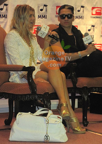 Fergie and Taboo at their presscon