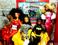 Happy Halloween (2011)! (Dawn Ellis) Tags: barbie diorama blackdoll blackbarbie blackdolls trichelle aabarbie dolldiorama soinstyle barbiefashionista sishalloween barbiepivotal