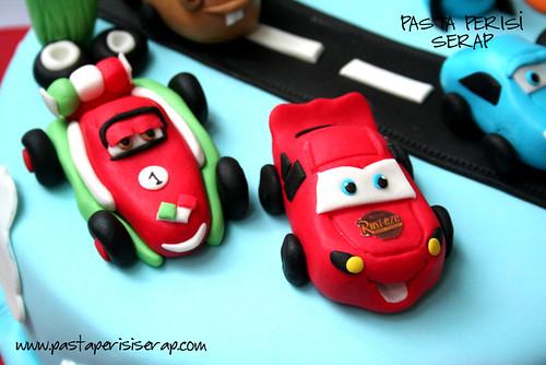 DISNEY CARS  ŞİMŞEK MC QUEEN BIRTHDAY CAKE -NUMAN