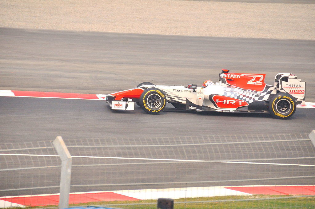 Narain Karthikeyan on his HRT F1 car