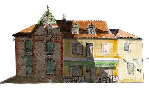 Ensemble de maisons à Assier dans le Lot by Stéphane Feray