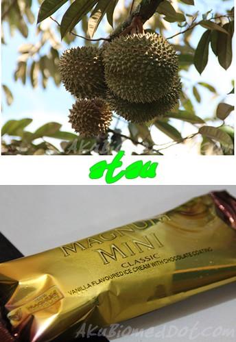 Pilihan: Durian atau Aiskrim Magnum Vanilla mini?