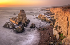 Heaven. (Silent G Photography) Tags: california statepark ca longexposure sunset cliff mist water landscape photography rocks waves glow bracket lososos cliffs boulders adobe montanadeoro nik lowtide centralcoast hdr highdynamicrange bluff onone lightroom reallyrightstuff autobracket rrs blufftrail montanadeorostatepark photomatix tonemap 3exposures hdrphotography colorefexpro niksoftware highdynamicrangephotography nikond7000 nikkor1635mmf4 markgvazdinskas silentgphotography reallyrightstuffllc perfectlayers ononephotosuite6 perfecteffects
