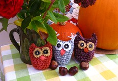 Little crochet owls (bunny mummy) Tags: crochetowl