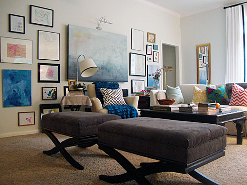 Libbie Grove Design Living Room Gallery Wall