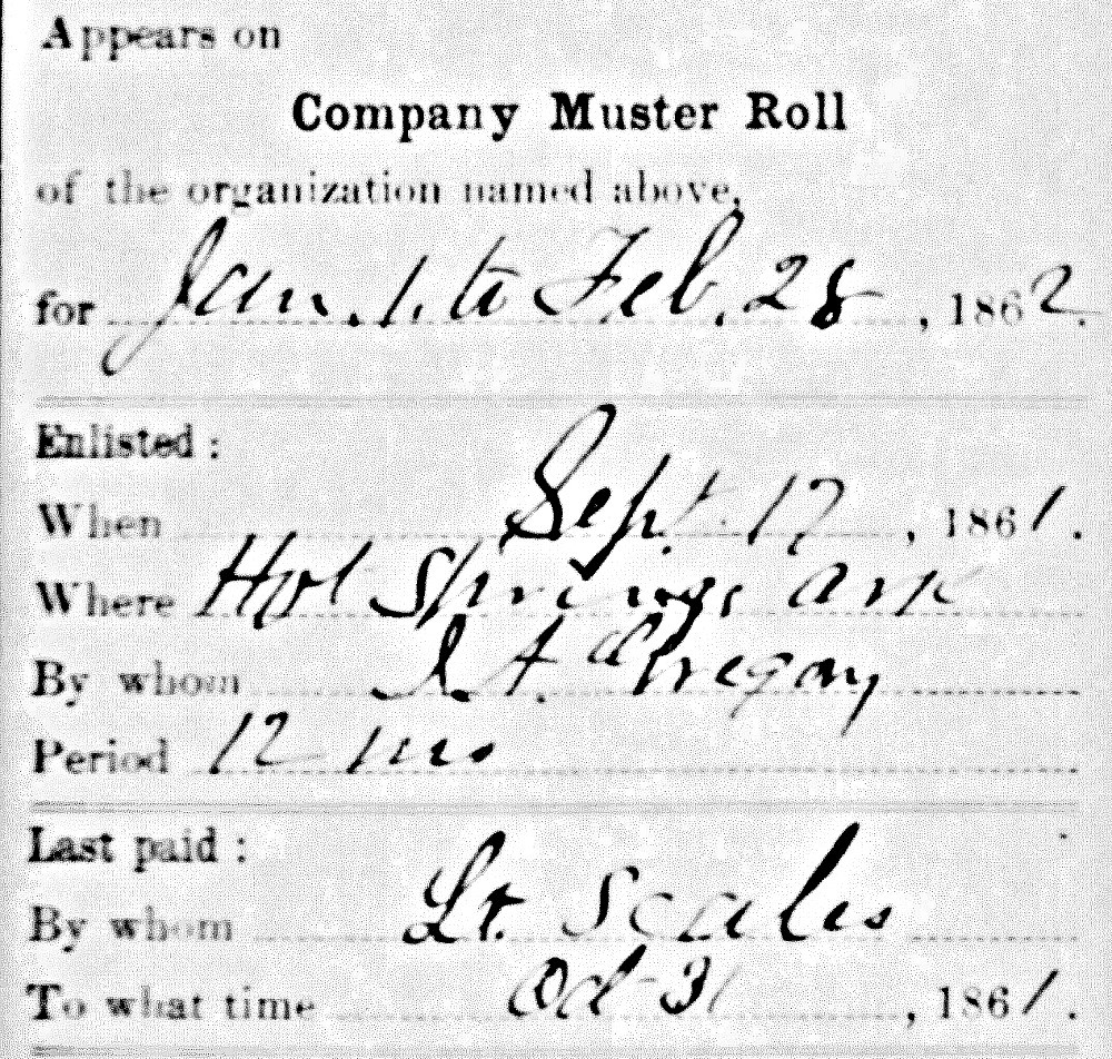 Claiborn Perry, Jr Enlistment Record
