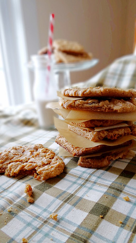 cinnnamon raisin peanut butter cookies