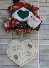 MELL (TELMELITA) Tags: natal country artesanato botão fuxico feltro patchwork papainoel casinha tecido trabalhosmanuais