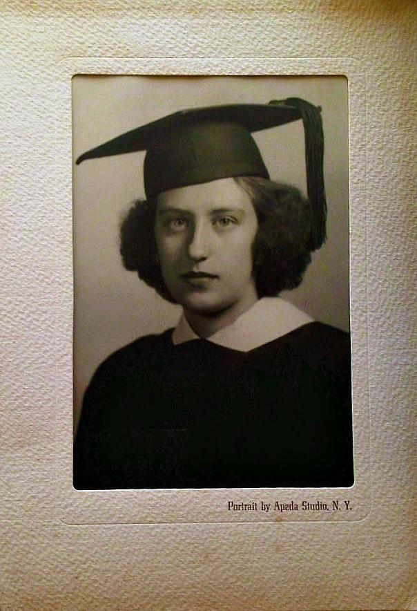 Gloria Allen?  HS Graduation c. 1945