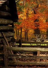 Autumn Landscape with old log cabin (Mysophie08) Tags: autumn fence rebel virginia thumbsup rockon mabrymill twothumbsup bigmomma gamewinner thumbwrestler challengeyouwinner friendlychallenges yourockwinner agcgwinner yourockunanimous gamex2winner herowinner ultraherowinner storybookwinner pregamewinner storybookttwwinner gamex3sweepwinner