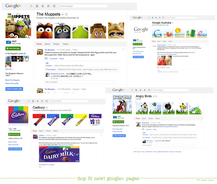 {top 5} google + introduces pages