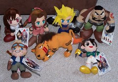 Final Fantasy 7 - UFO Catcher plushes (WhiteNoise_85) Tags: plush plushies ufocatcher finalfantasyvii cloudstrife cidhighwind yuffiekisaragi barretwallace redxiii aerithgainsborough tifalockhart