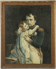 143. 19th century Chromolithograph of Father & Daughter