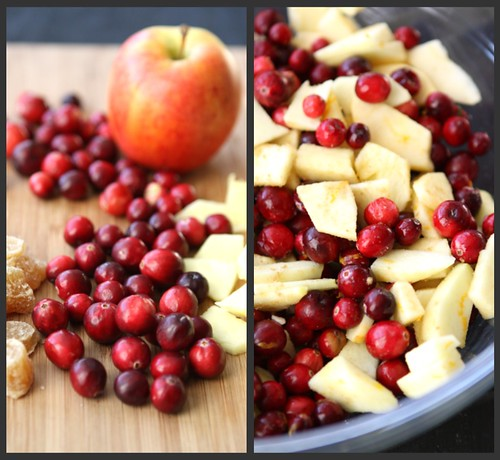 Cranberry Ginger Applesauce Collage