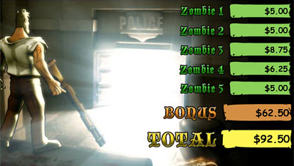 Zone Of  Zombies bonus game