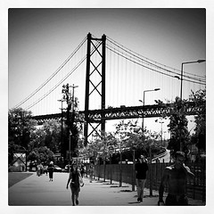 LisboaBridge (Bouksight) Tags: blackandwhite streets architecture square photography lisboa perspective cities streetphotography squareformat inkwell lisbonne carr streetp blackwhitephotos iphonephotography iphoneography instagram instagramapp uploaded:by=instagram instragram instagramer instagramuser