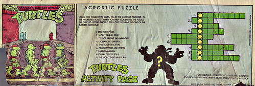 Teenage Mutant Ninja Turtles { newspaper strip } TURTLE X-ing   ..art by Lawson :: xxxx1991