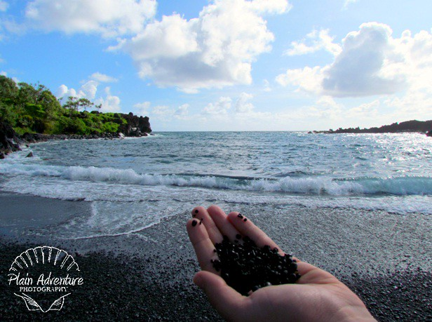 Karen holding the Black Sand