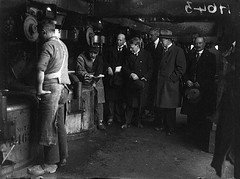 Tour of Inspection (National Library of Ireland on The Commons) Tags: 1920s ireland workers october caps hats sugar politicians guages clogs girders sugarbeet factories 1926 vats carlow twenties sugarfactory taoiseach nationallibraryofireland lippens independentnewspaperscollection wtcosgrave strawhall
