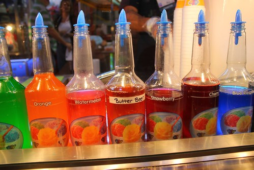 Sno Biz flavors (with Butter Beer)