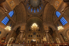 Uspenski Cathedral, Helsinki (Greg Annandale) Tags: travel blue orange detail beautiful finland gold lights helsinki nikon cathedral interior religion fine chandeliers orthodox uspenski d90 bulbds
