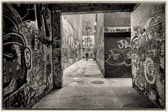 A2 Graffiti - 6 (gastwa) Tags: street bw white black graffiti focus scenery university angle michigan sony voigtlander wide wideangle andrew f45 arbor ann manual 15mm nex 5n gastwirth andrewgastwirth