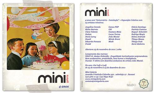 Mini Galeria 4 anos - Aniversário-Instalação + Exposição Coletiva com 23 artistas mineiros: