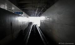 Para brillar necesitas la oscuridad (Yali Carames Photography) Tags: road light dark camino metro rail tunnel walls tunel paredes oscuridad rieles clarida musictomyeyeslevel1